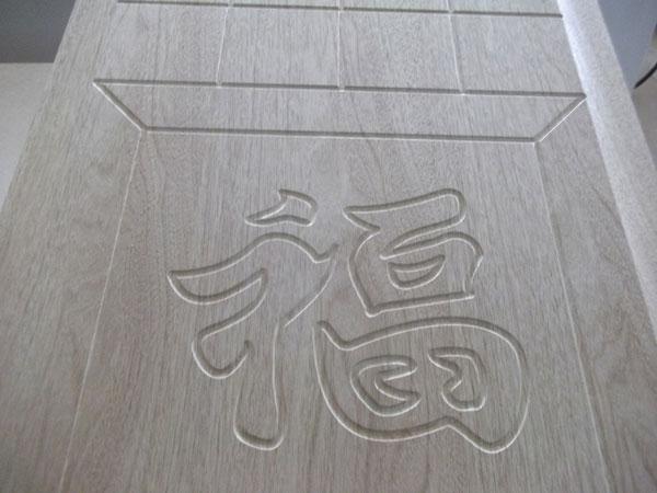 雕刻门板贴木皮工艺